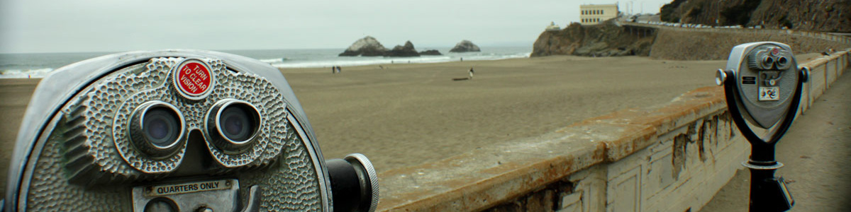 Art Photography of Viewfinders on Pacific Ocean CA